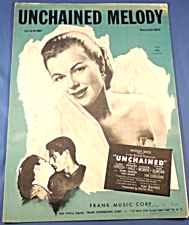 "Primary image for Vintage Sheet Music -1955 - ""Unchained Melody""  #7924"
