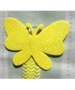 Butterfly Hair Clip Accessory Holder - Yellow:  Handmade - $5.00