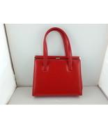 Julius Resnick Vintage Handbag  Red Faux Leather - $70.00