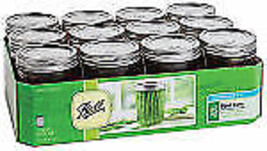 Ball, 12 Pack PT Wide Mouth Mason Jar - $23.16