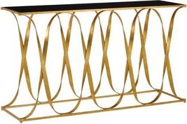 Console Currey &Amp; Company Sabine Black Grecian Gold Leaf - $2,239.00