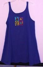 BEACH BOUND SLEEVELESS T-SHIRT - BLUE - S/M - BEACH THEME DECORATION - U... - $5.99