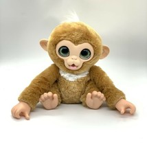 "FurReal Monkey  Zandi Plush 9"" 2017 E0367 Makes Sounds, Green Eyes, Cute! - $10.79"