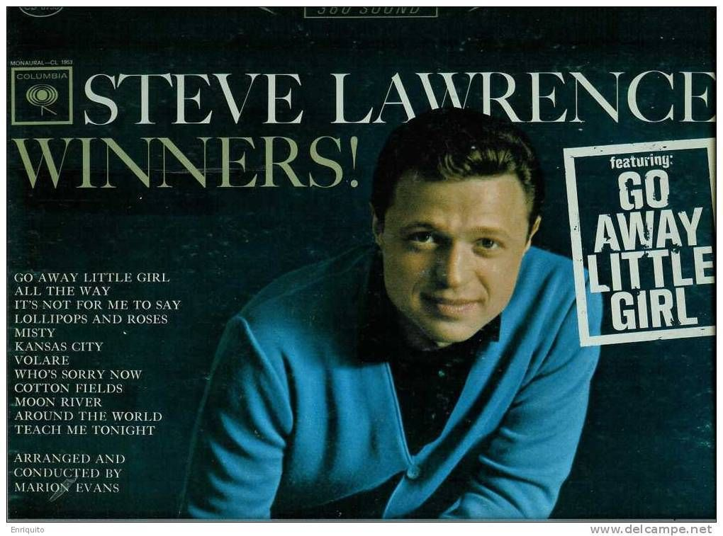 Primary image for STEVE  LAWRENCE  * WINNERS *  Go away little girl  L P