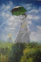 24X36 inch Claude Monet Painting Repro Woman with a parasol - $26.45