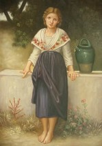 24X36 inch William Bouguereau Repro Painting Broken Pitcher - $48.99