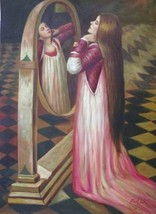 24X36 inch Waterhouse Painting Repro Mariana in The South - $48.99