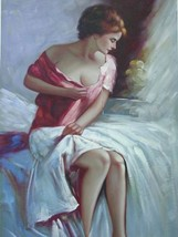 24X36 inch Ballerina Figure Oil Painting Excellent Dancer - $47.04