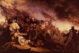 16X20 inches John Trumbull Canvas Print Repr The Battle of Bunker Hill - $23.70