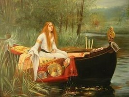 16X20 inches John Waterhouse Canvas Print Lady of Shalott in a Boat - $23.70