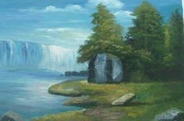 24X36 inch Hand-painted Landscape Oil Painting Niagara Falls - $29.39