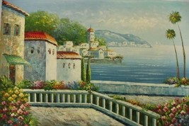 24X36 inch Seacape Oil Painting Mediterranean S... - $27.41