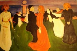 24X36 inch Edvard Munch Oil Painting Repro Life Dancing - $26.45