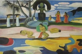 24X36 inch Paul Gauguin Oil Painting Repro Nude Bathers - $26.45