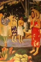 24X36 inch Paul Gauguin Oil Painting Tahitian St. Mary&Baby - $26.45