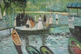 24X36 inch Claude Monet Oil Painting Repro Women fishing - $26.45