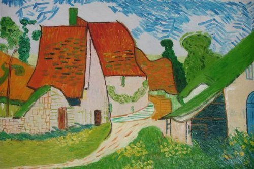 24X36 inch Van Gogh Painting Repro Village Street in Auvers