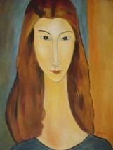 20X24 inch Amedeo Modigliani Oil Painting Jeanne Hebuterne - $17.64