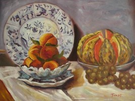20X24 inch Claude Monet Painting Repro Still Life With Melon - $17.61