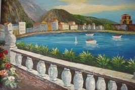 24X36 inch Seacape Oil Painting Mediterranean S... - $24.67