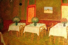 24X36 inch Van Gogh Painting Repro Interior of a Restaurant - $23.81