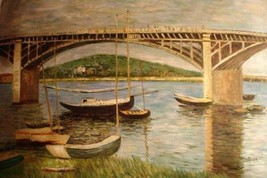 24X36 inch Claude Monet Painting Repro Bridge over the Seine - $23.81