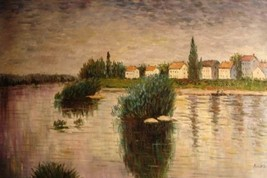 24X36 inch Claude Monet Oil Painting The Seine At Lavacourt - $23.81