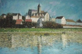24X36 inch Claude Monet Painting The Church At Vetheuil 1880 - $23.81