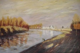 24X36 inch Monet Painting Repro The Seine At Argenteuil 1872 - $23.81