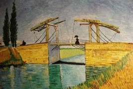 24X36 inch Van Gogh Oil Painting Langlois Bridge at Arles - $23.81