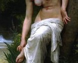 16X20 inches William Bouguereau Nude Canvas Print Repro After the Bath