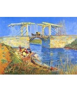 16X20 inches Van Gogh Canvas Print Repro The Drawbridge@Arles - $23.70