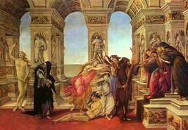 16X20 inches Sandro Botticelli Canvas Print Rep The Calumny of Apelles - $23.70