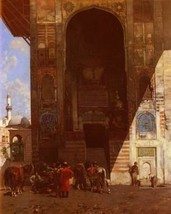 16X20 inches Pasini Alberto Halte A La Mosquee 1881 Canvas Print Repro - $23.70