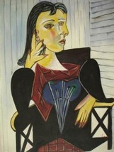 20X24 inch Pablo Picasso Oil Painting Repro Dual Face Lady - $17.64