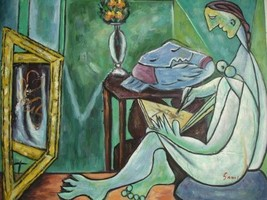 20X24 inch Pablo Ruiz Picasso Oil Painting Repro Musse - $17.64