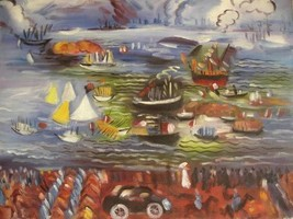 20X24 inch Raoul Dufy Oil Painting Repro Water Programs - $17.64