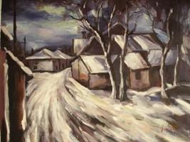 20X24 inch Maurice de Vlaminck Oil Painting Repro Village - $17.64