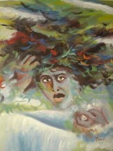 20X24 inch Lucien Dhurmer Symbolist Oil Painting Rep Medusa - $17.64