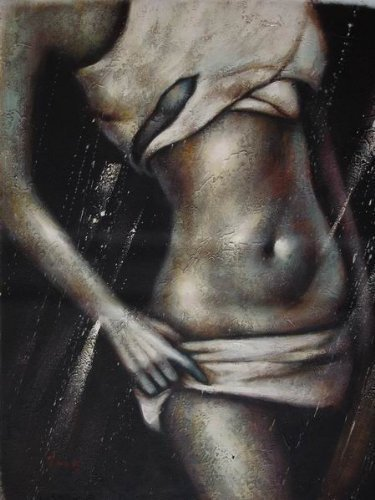 20X24 inch Abstract Oil Painting Modern Fashion Model