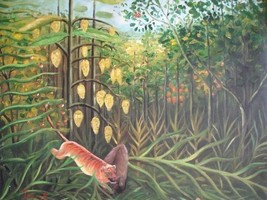 20X24 inch Hei Rousseau Oil Painting Repro Trop... - $17.64
