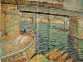 20X24 inch Gogh Painting Bridges across the Seine @ Asnieres - $17.61