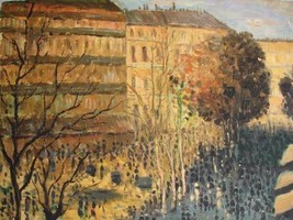 20X24 inch Monet OilPainting Boulevard of Capucines in Paris - $17.61