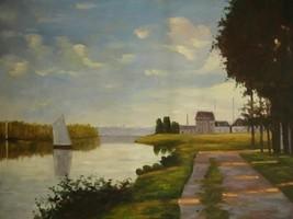 20X24 inch Claude Monet Oil Painting Repro Argenteuil 1872 - $17.61