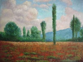 20X24 inch Claude Monet Oil Painting Rep Landsc... - $17.61