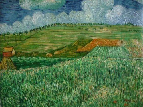Primary image for 20X24 inch Van Gogh Oil Painting Rep Plain Near Auvers