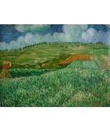 20X24 inch Van Gogh Oil Painting Rep Plain Near Auvers - $17.61