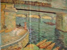 20X24 inch Gogh Painting Bridges across the Seine @ Asnieres - $17.61