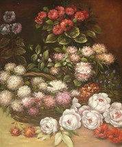 20X24 inch Claude Monet Floral Painting Repro Spring flowers - $17.61