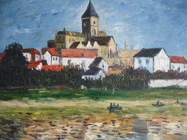 20X24 inch Claude Monet Painting The Church At Vetheuil 1880 - $17.61